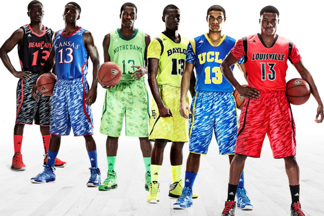 adidas college basketball tournament uniforms