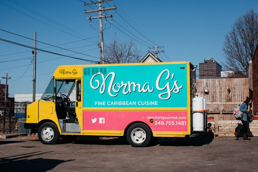 Norma g 39 s caribbean food truck rolls into detroit eater for Kitchen 88 food truck utah menu