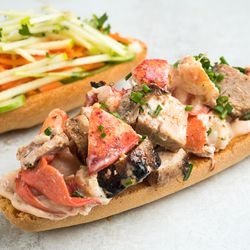 Num Pang's limited-time pork belly and lob-stah sandwich