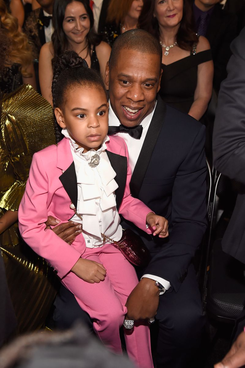 Blue Ivy Carter and Jay-Z at the Grammys 2017