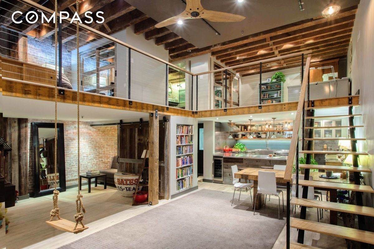 Renovated Tribeca Loft With Rustic Touches Wants 1 65m Curbed Ny