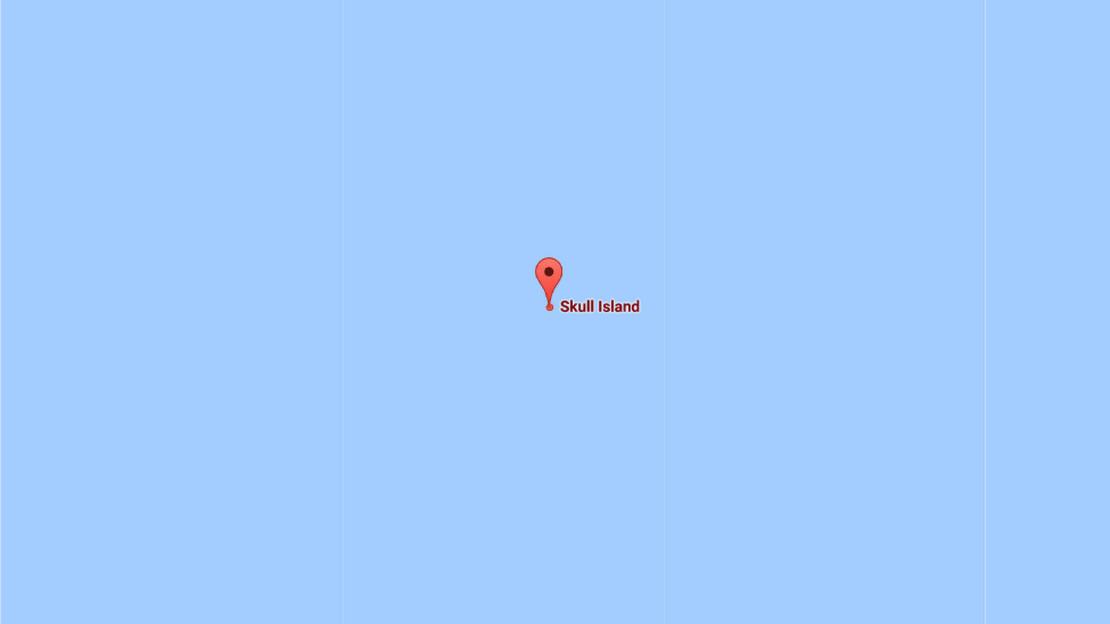 You can now locate Kong's Skull Island on Google Maps