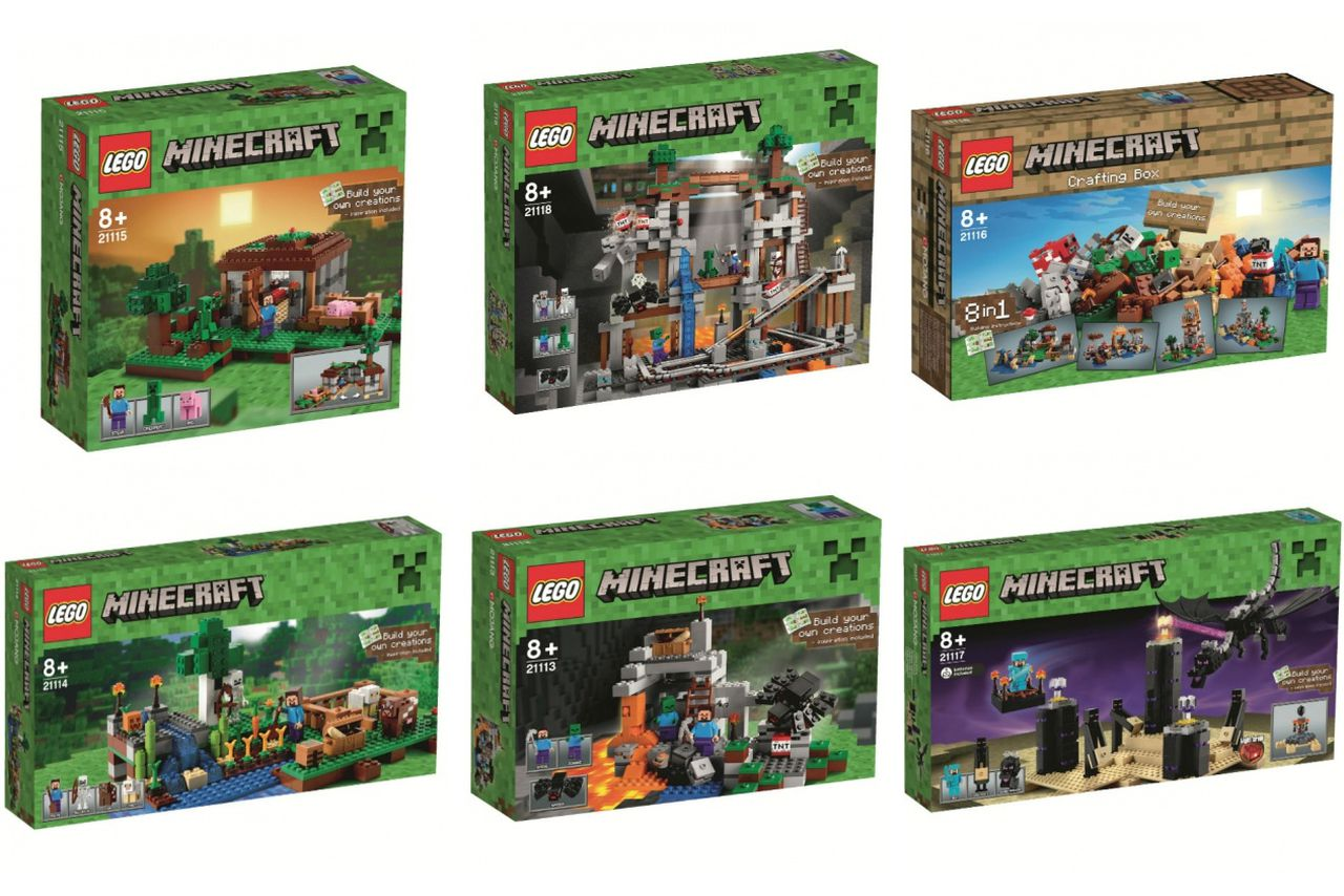 These new lego minecraft sets look decidedly more lego than ever