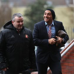 Before and after - this is the 'after' - Khazri arriving at the Stadium of Light in February 2017