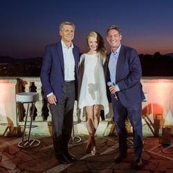 From left, Marc Pritchard (P&G), Liz Milonopoulos (Goldman Sachs), Jim Bankoff (Chairman & CEO, Vox Media)
