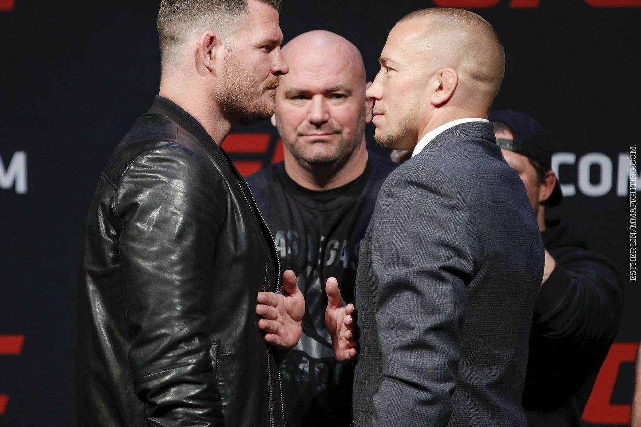 community news, Georges St Pierre says Michael Bisping 'embarrassed himself every time he opened his mouth' at first press conference