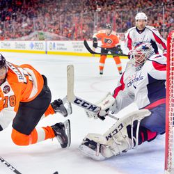 The Philadelphia Flyers did not score on this play