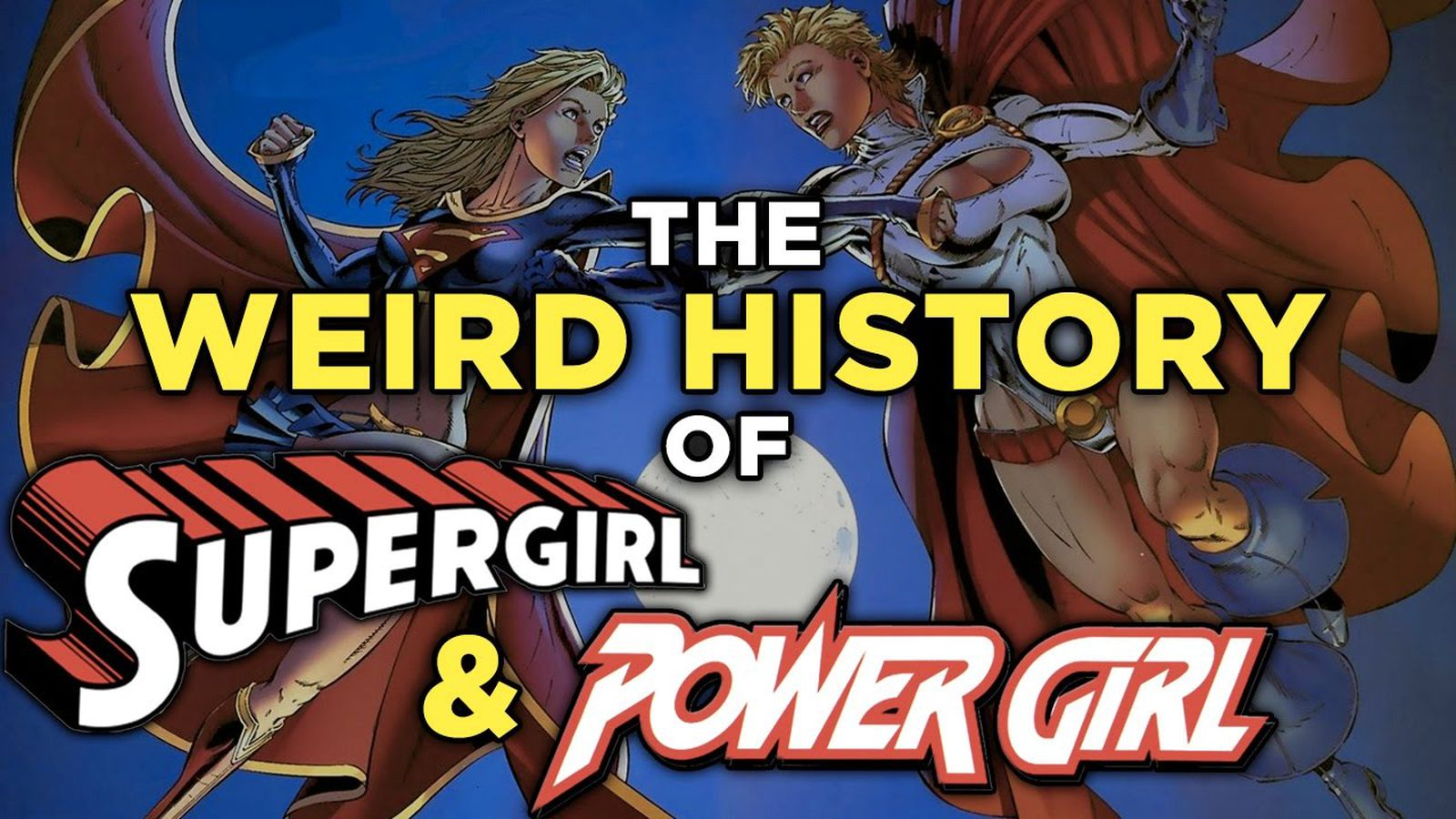 the history of supergirl and power girl is a perfect lens