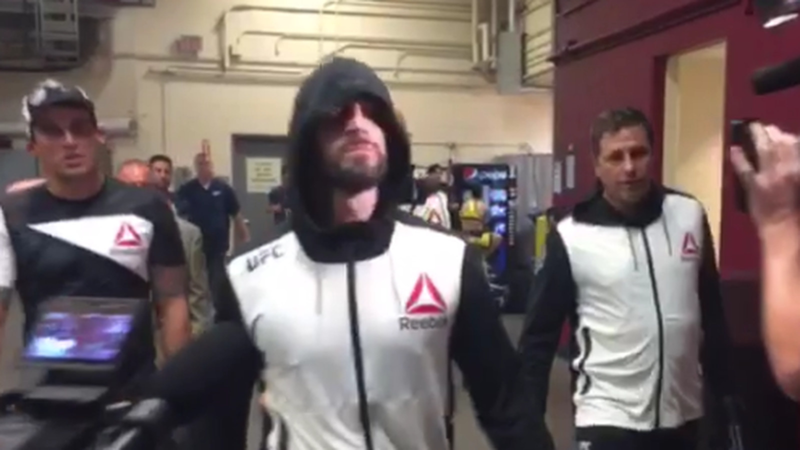 CM Punk walked out to Cult of Personality at UFC 203