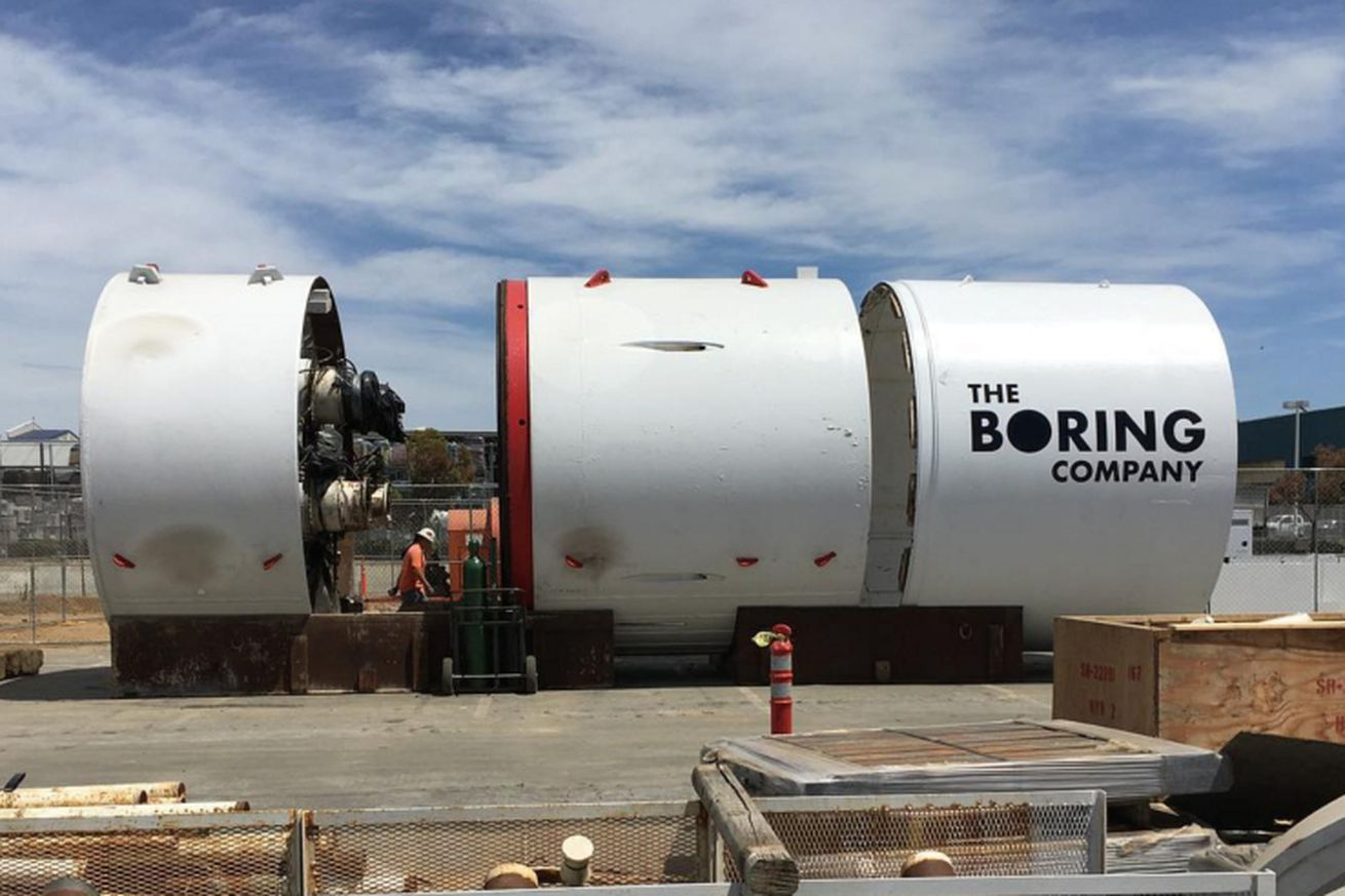 Here's our first glimpse of Elon Musk's tunnel boring machine