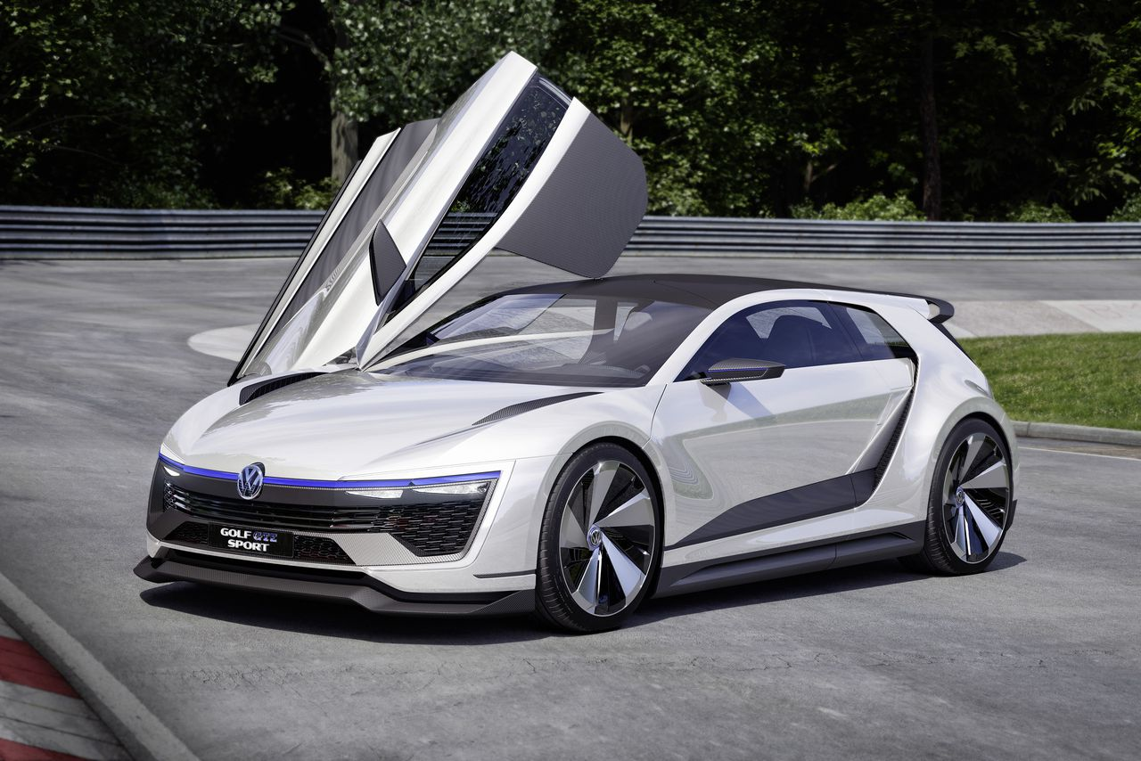 volkswagens  golf concept  gullwing doors   horsepower  verge