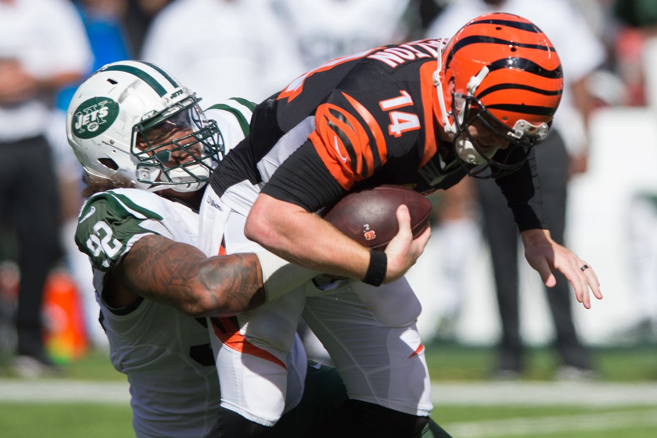 Jets sputter in red zone in loss to Bengals in opener
