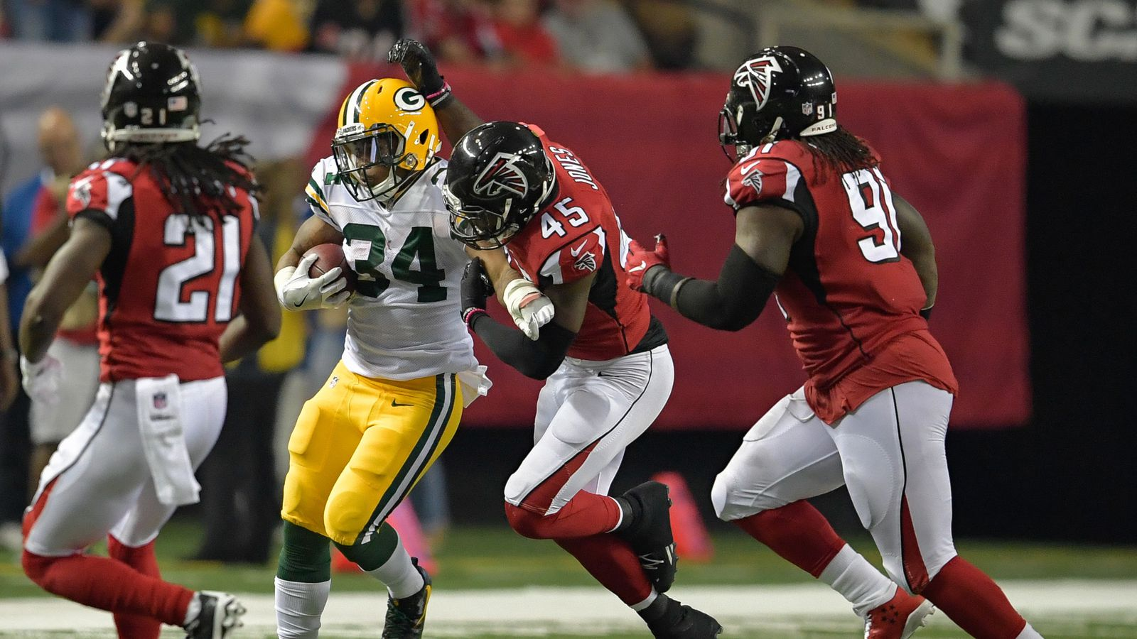 Image result for Falcons vs green bay week 8