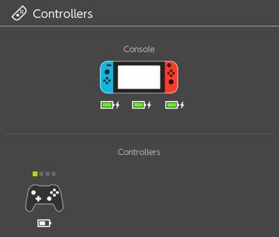 Nintendo Switch charging screen