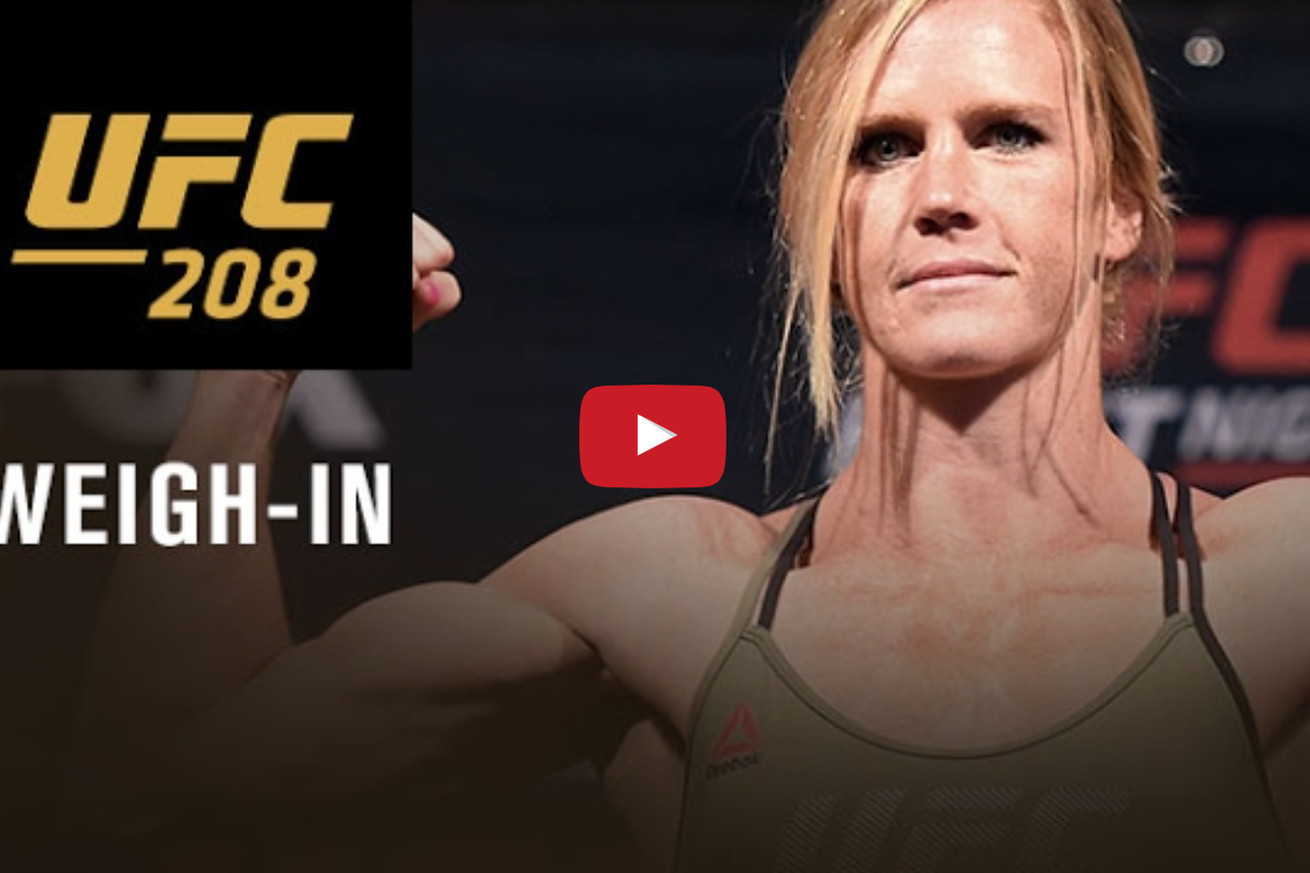 UFC 208 weigh in video results for Holm vs De Randamie' in Brooklyn