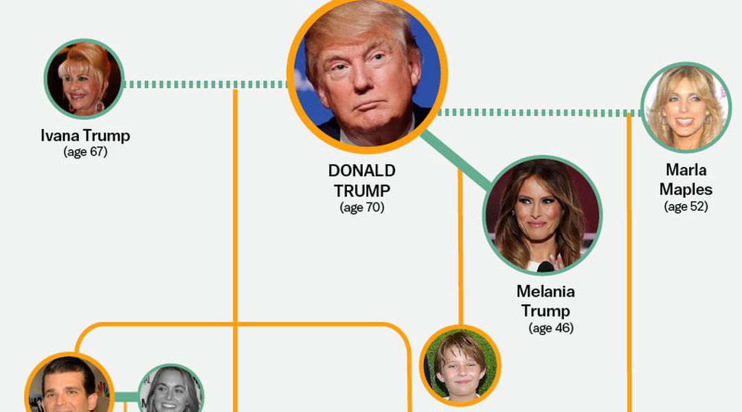 the entire donald trump family tree  in one graphic