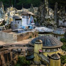 A 3D-model of the Star Wars section of its theme park.