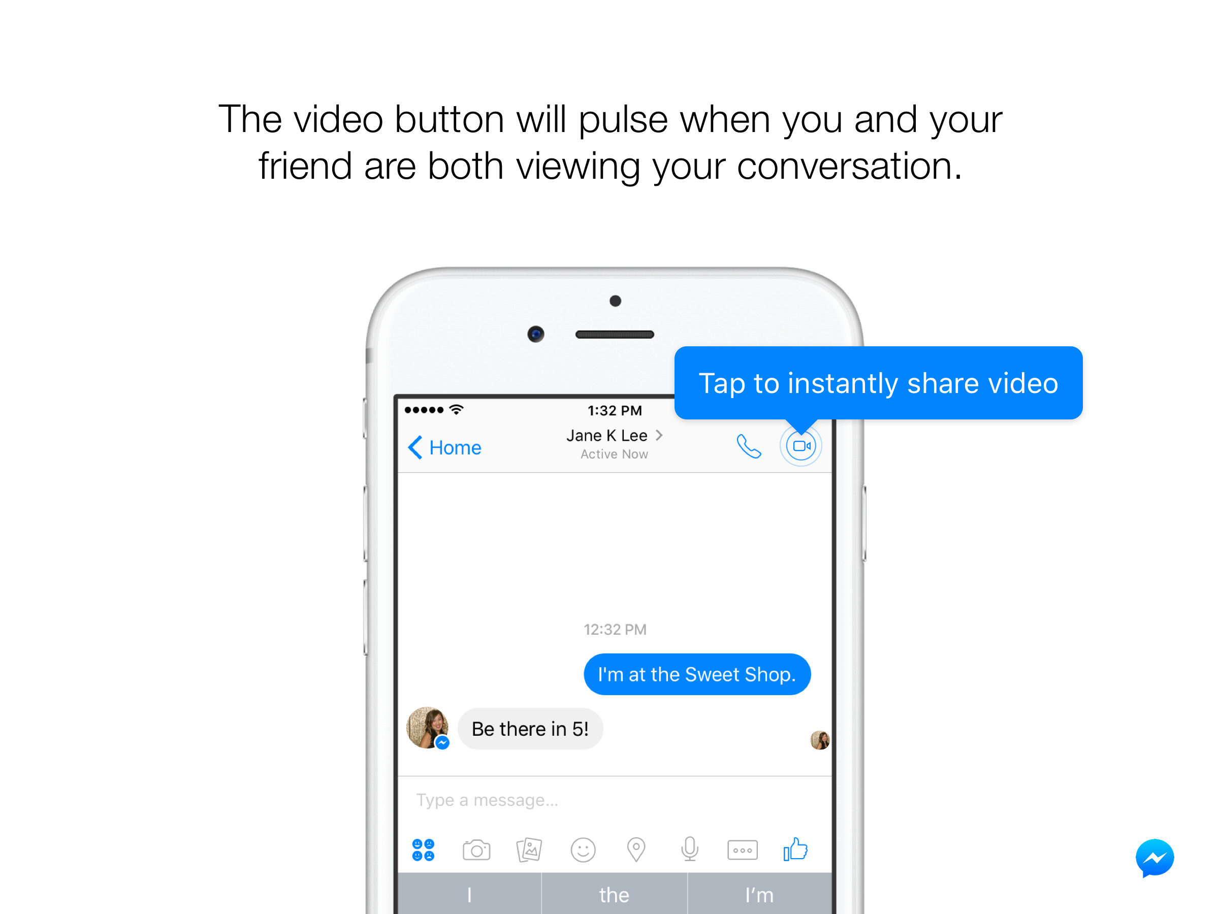 Facebook Introduces Live Streaming 'Instant Video' Feature in Messenger App