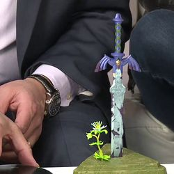 The Master Sword isn't in tip-top shape, but that flower may provide some hope.