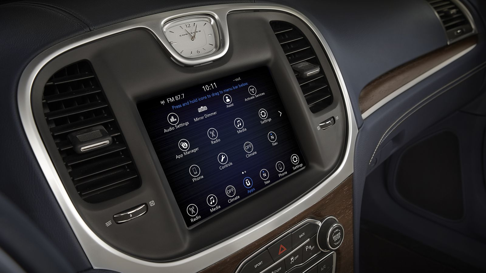 Google and Chrysler use Android to revamp the in-car touchscreen