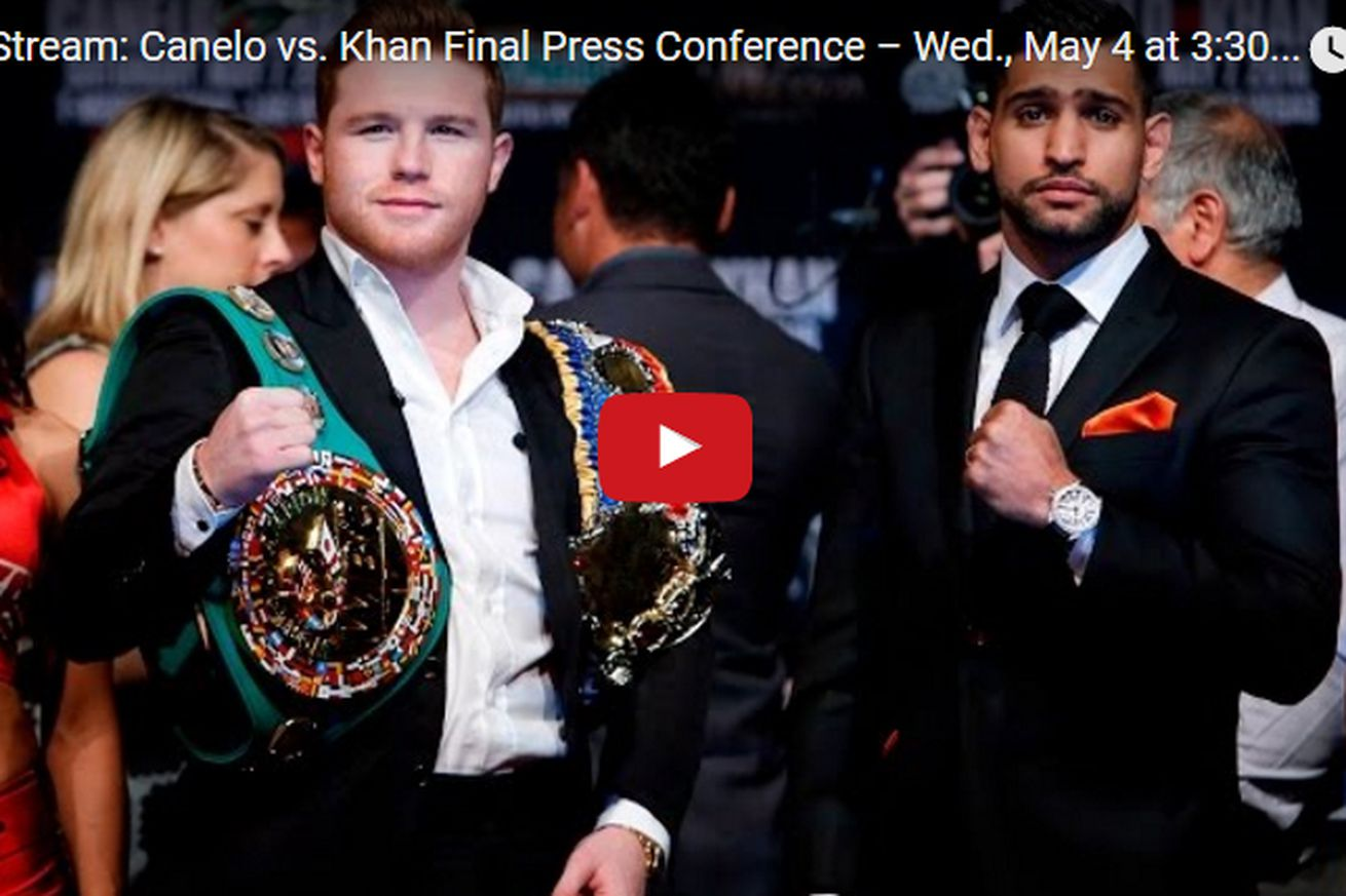 community news, Canelo vs Khan live stream: Final press conference video from Las Vegas