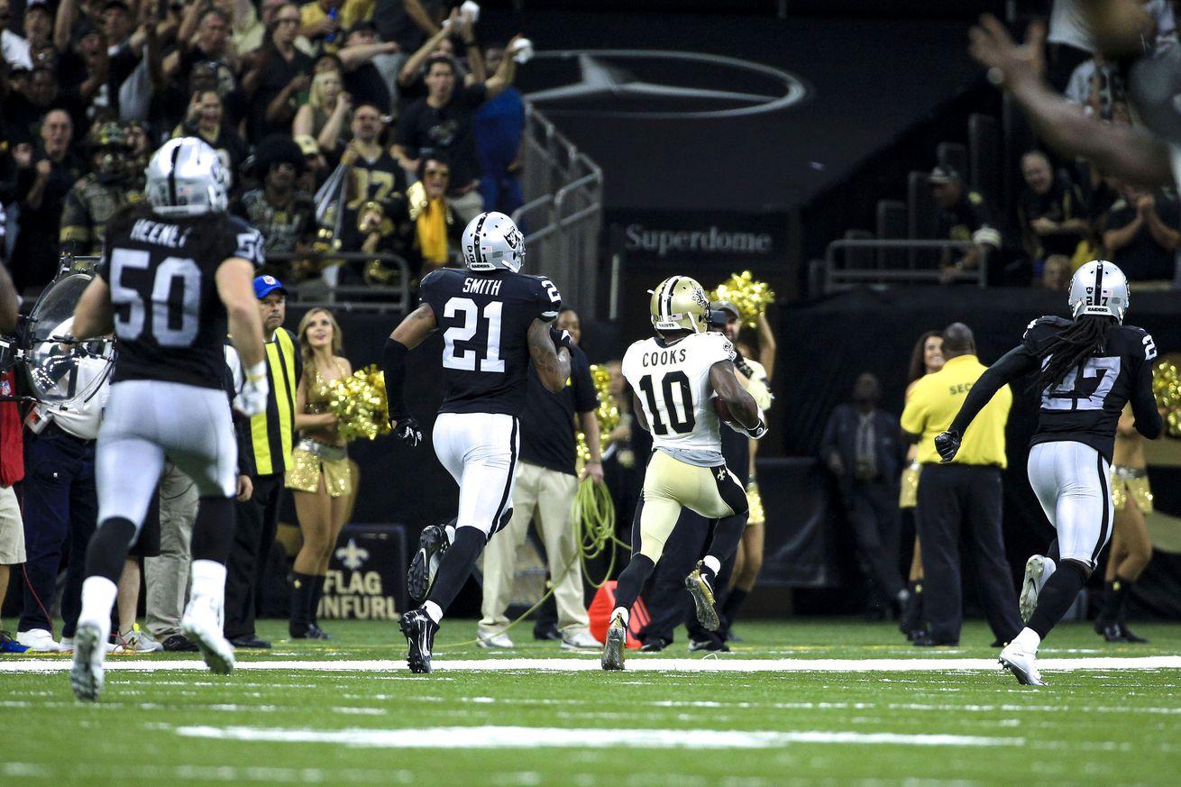 Carr, Raiders rally to beat Saints 35-34
