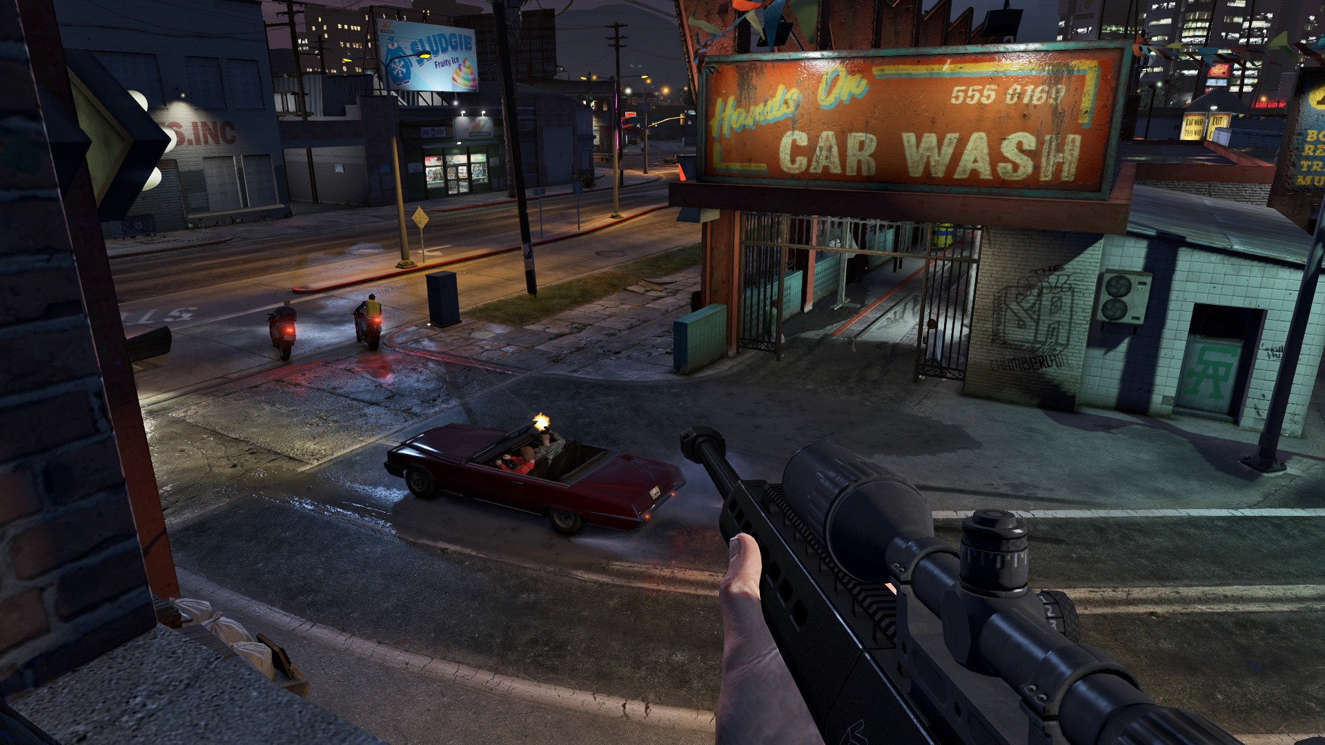 see how grand theft auto online looks on pc ps4 xbox one and in first person polygon. Black Bedroom Furniture Sets. Home Design Ideas