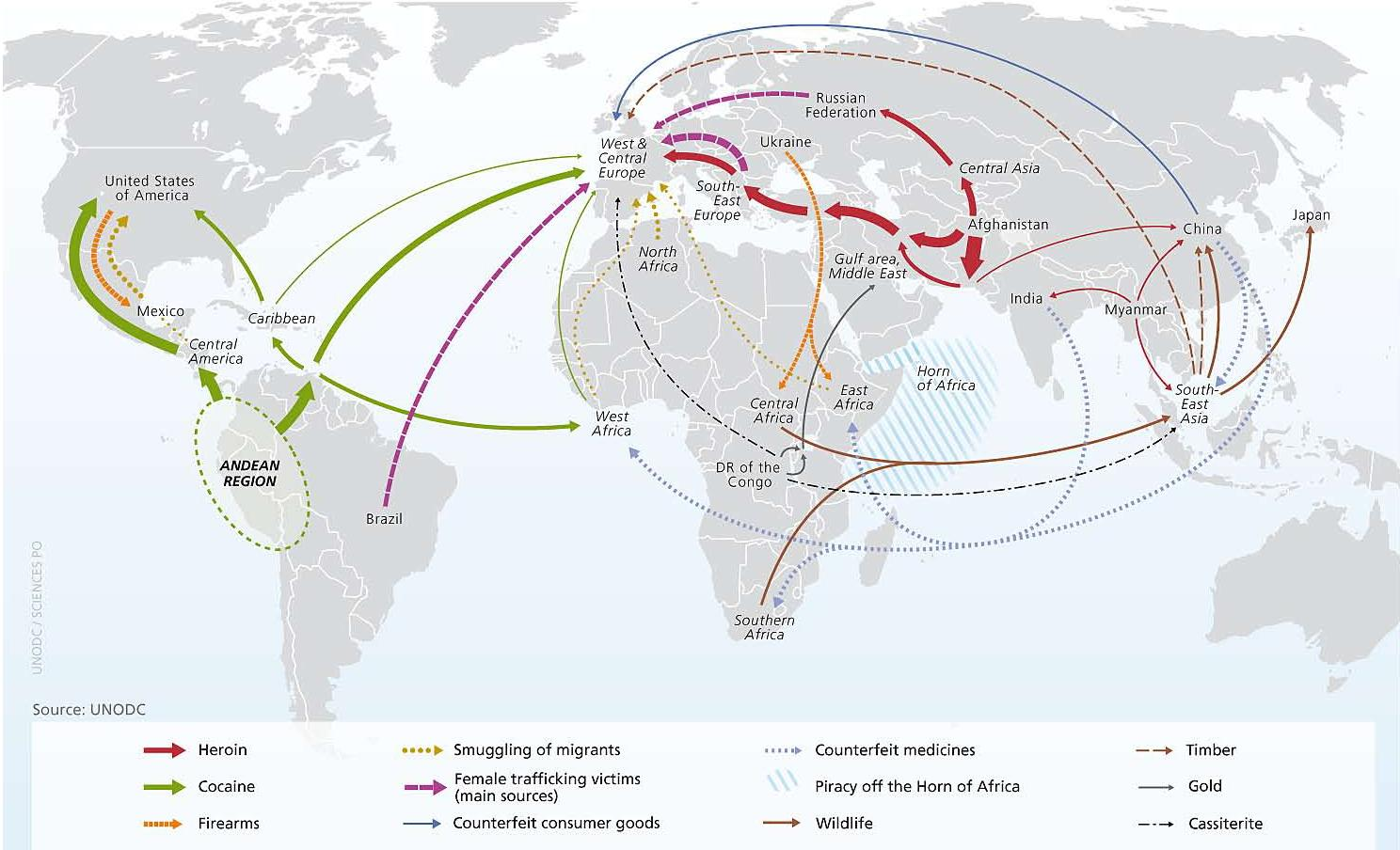 How criminals move their illegal goods around the world for Best countries to move to