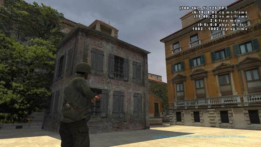 Soldado invade cidade italiana, com visão em terceira pessoa