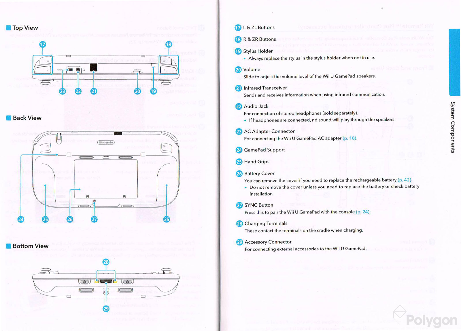 wii console parts diagram wii u instruction manual offers detailed diagrams of ... 1969 camaro console wiring diagram