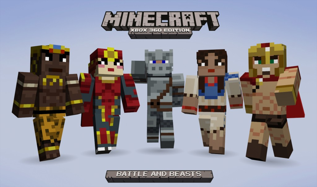Minecraft: Xbox 360 Edition 'Battle and Beasts' skin pack ...