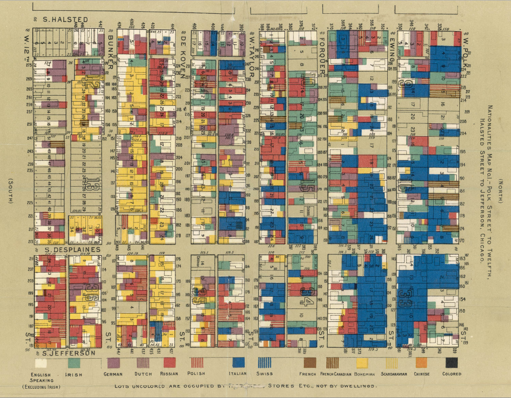 an insanely detailed map of immigrants in america from 1903