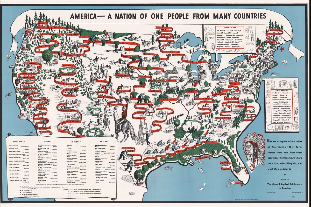 Maps That Explain How America Is A Nation Of Immigrants Vox - Animated map of immigrants to us