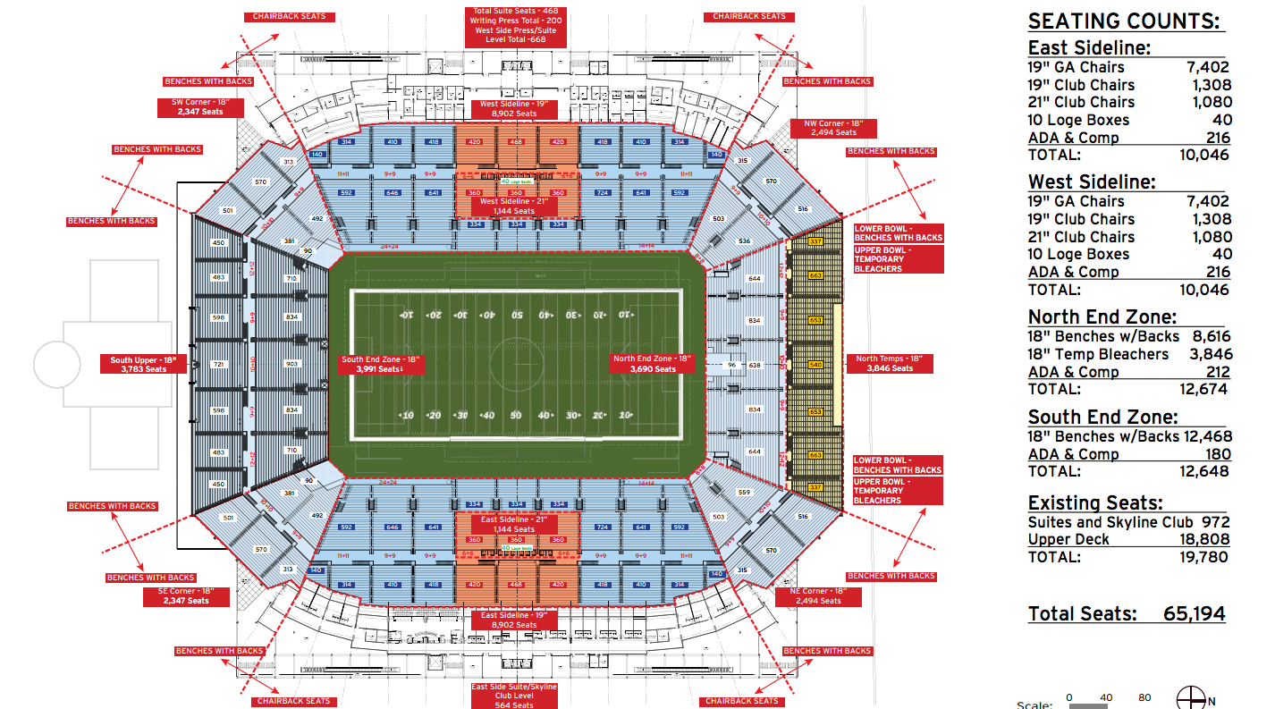 Orlando citrus bowl seating chart orlando citrus bowl seating