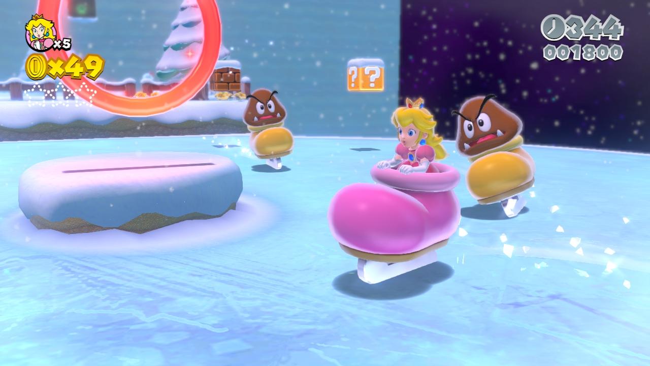 Fresh Super Mario 3D World Screens Show Off Cat Powers, Sand Goombas, Kuribos Skate -3047
