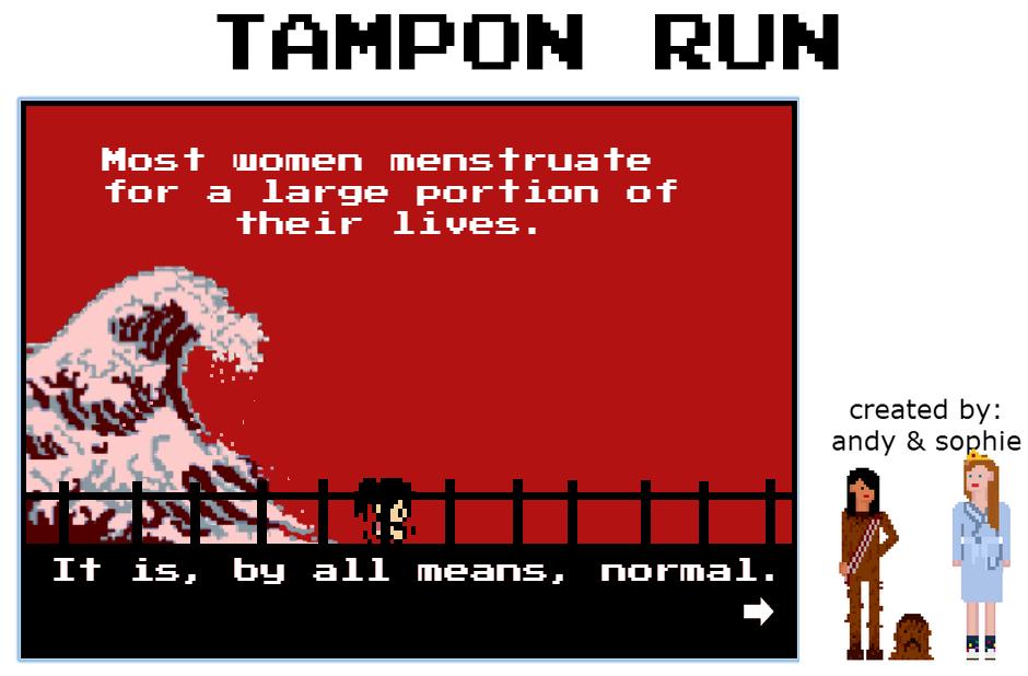 Teenage coders behind Tampon Run take their feminist game to the ...