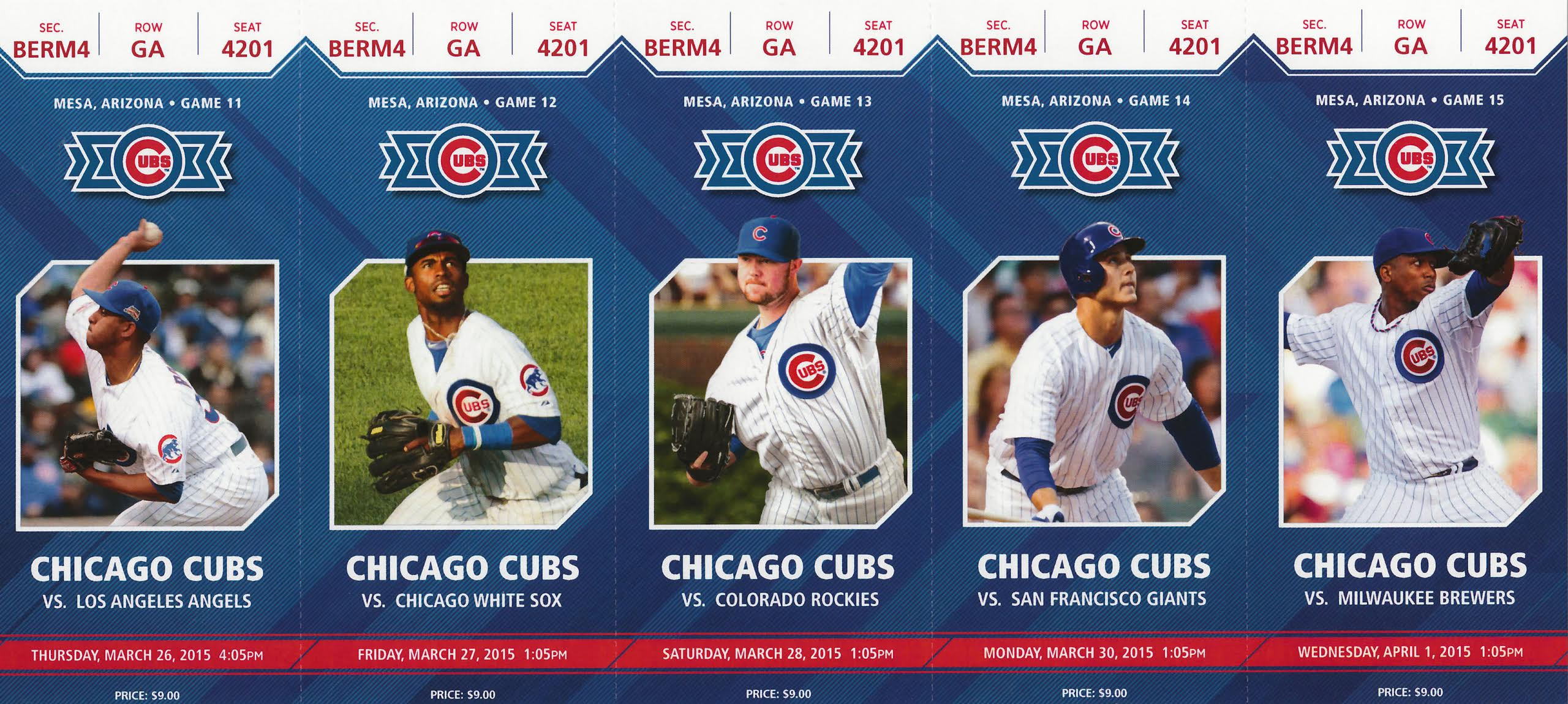 2015 cubs spring-training season tickets - bleed cubbie blue