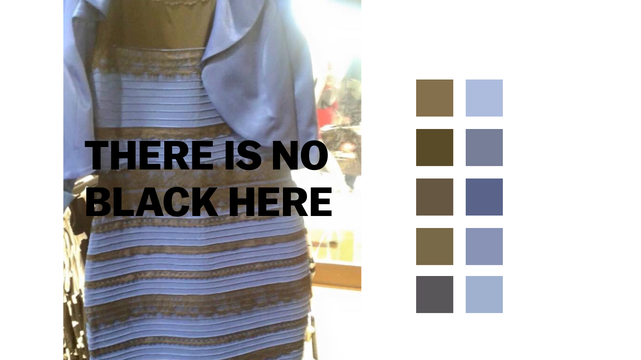 Different colored dress debate explained