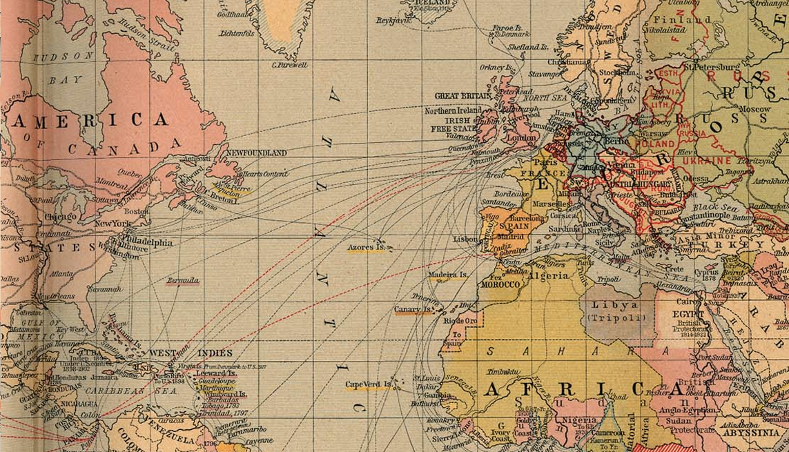 A map of all the underwater cables that connect the internet