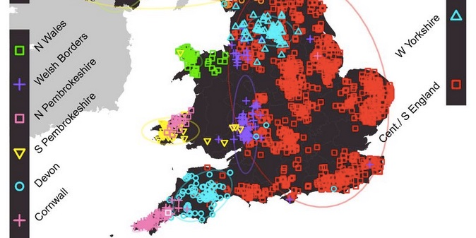 Show Map Of England.New Genetic Map Of The Uk Shows Which Invasions Created Britain S