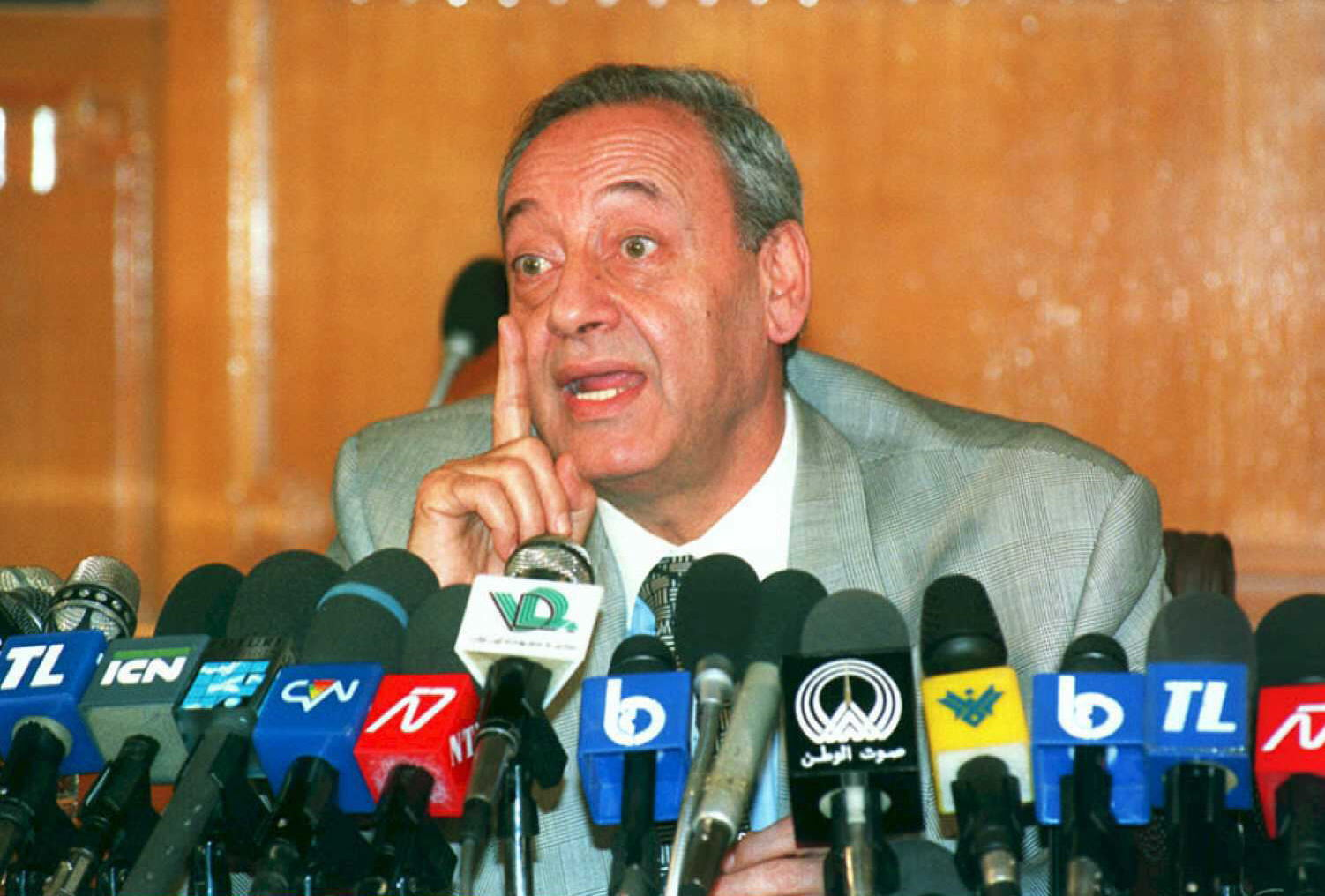 Nabih Berri in 1995, almost a decade after his