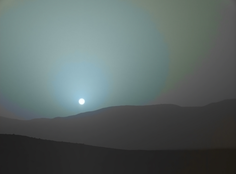 sun sets on mars nasa - photo #7