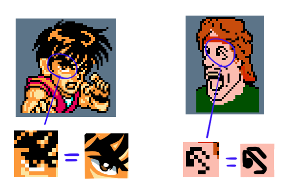 pixel art how to make character look down