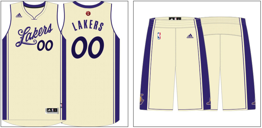 798d67fede2d Lakers 2015 Christmas Day uniform unveiled - Silver Screen and Roll