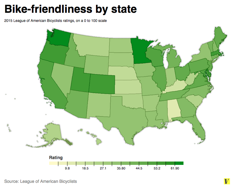 Why Washington and Minnesota are the most bicycle-friendly ...