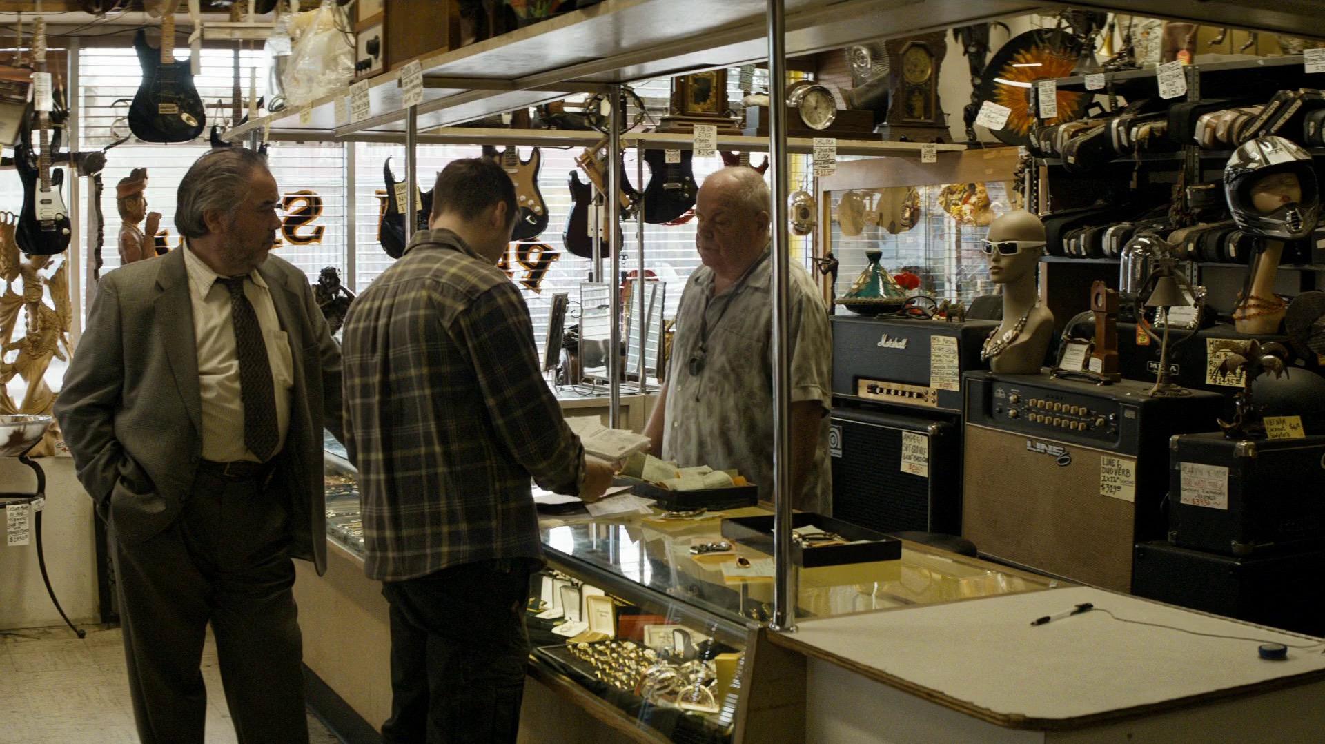 Paul and Teague Dixon at the pawn shop