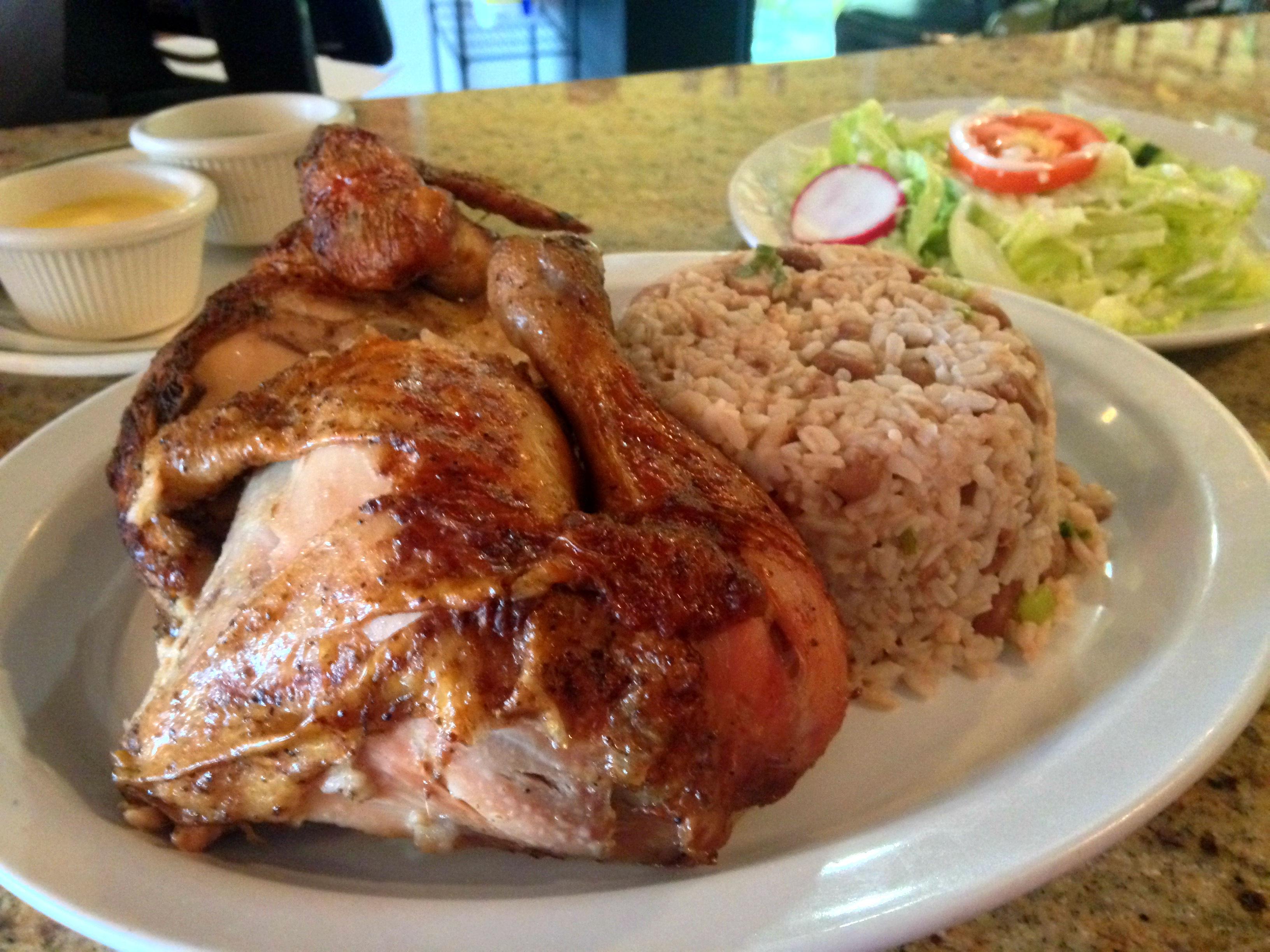 Machu Chicken 1/2 Chicken Tacu Tacu