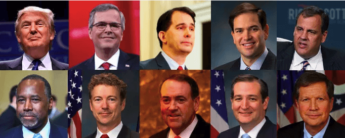 The 10 GOP qualifiers for Thursday's presidential debate.