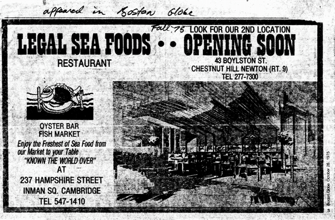 Legal Sea Foods Chestnut Hill ad