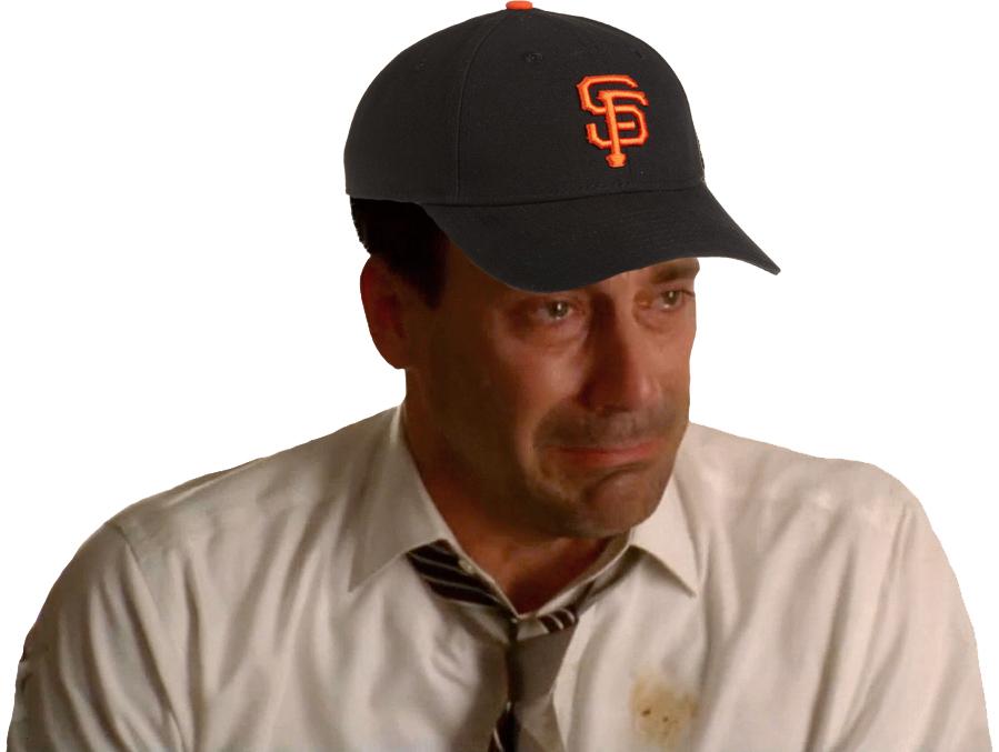 Crying Don Draper Giants Fan